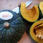 Cutting Kabocha for soup