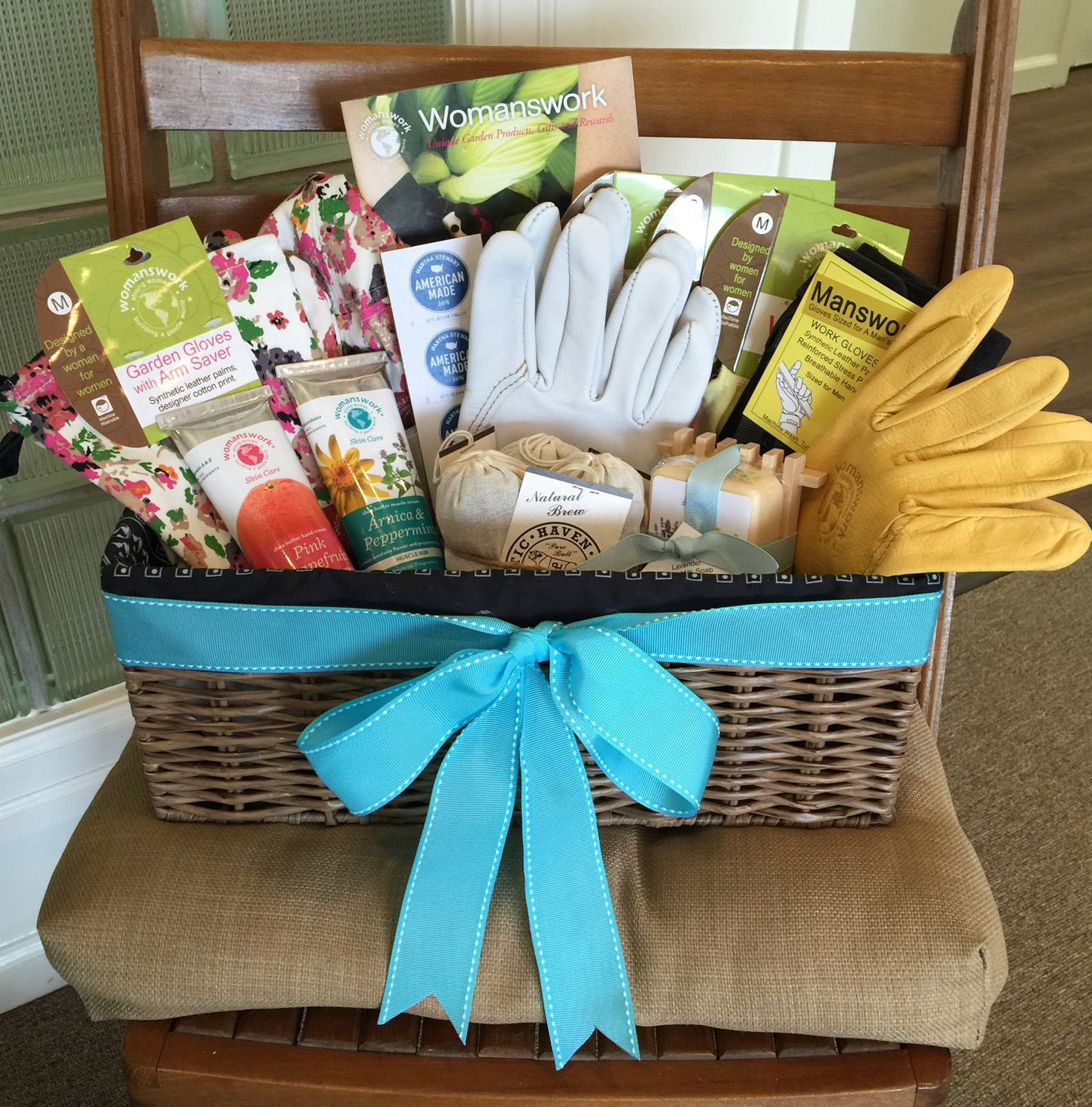 designer gardening gloves. Womanswork gift basket we presented as a thank you for hosting our group  Tags garden gloves Meeting Martha Stewart womanswork com